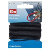 Elastic 2.5 mm, tip snur, Prym 971231 -negru 971231