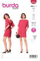 Tipar rochie dreapta, decupata la spate 6046