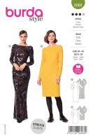 Tipar rochii elegante cu decolteu larg 6068
