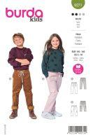 Tipar pantaloni cu elastic si buzunare mari 9271