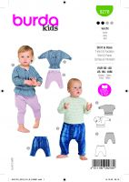 Tipar bluze si pantaloni copii 0 -18 luni 9278