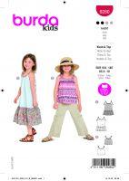 Tipar bluza si rochie pentru fetite 9280