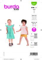 Tipar bluza si rochie pentru fetite 9281