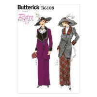 Tipar Costum dama retro B6108