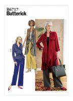 Tipar jacheta, palton, vesta, pantaloni, combinatii B6717