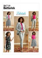 Tipar sacou, rochie, bluza, fusta, pantaloni, combinatii, costum B6718