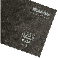 Insertie (intaritura) netesuta, termoadeziva pentru materiale subtiri, gri carbune, 43gr,  90x100 cm, Vlieseline F220