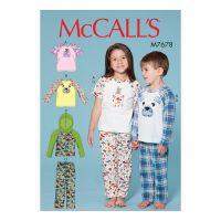 Tipar pijama baieti si fetite M 7678