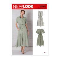 Tipar rochie stil camasa NN 6651