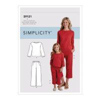 Tipar combinatii femei si copii S 9121