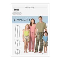 Tipar pantaloni pijama S 9127