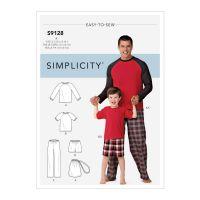 Tipar pijama adulti si copii S 9128