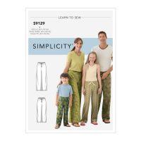 Tipar pantaloni pijama S 9129