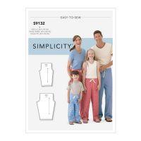Tipar pantaloni pijama adulti si copii S 9132