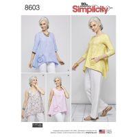 Tipar bluze femei S8603