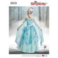 Tipar rochie carnaval S 8629
