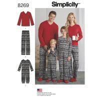 Tipar pijama copii si adulti S8269