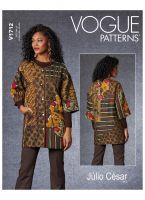 Tipar haina larga cu aplicatii patchwork V 1712.A