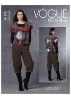 Tipar vesta si pantaloni trei sferturi V1715.A