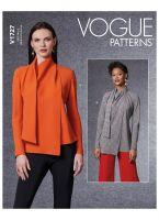 Tipar bluze cu esarfa aplicata V1727