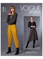 Tipar fusta asimetrica si pantaloni trei sferturi V1730.A