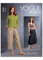 Tipar fusta gogosar si pantaloni trei sferturi V1731