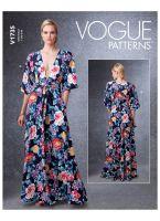 Tipar rochie cu deschidere adanca  V1735