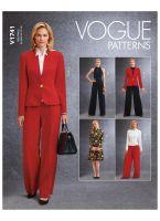 Tipar sacou, rochie salopeta, pantaloni V1741