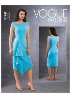 Tipar rochie lungime asimetrica V1742