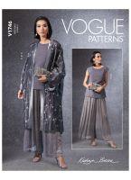 Tipar Kimono, bluza si fusta/pantalon V1746.A