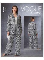 Kimono si pantaloni evazati V1749