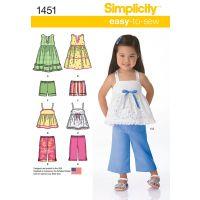 Tipar rochie,top,pantaloni pentru copii 1451.A