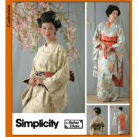 Tipar Costum de gheisa: kimono si partea din fata a camasii