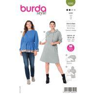 Tipar bluza cu aplicatii si rochie cu gluga 6095
