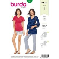 Tipar Burda bluze gravide 6347