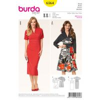 Tipar rochie Burda 6564