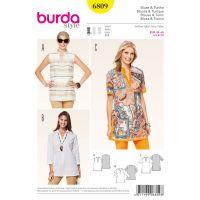 Tipar Bluza, Tunika Burda 6809