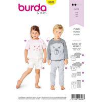 Tipar Burda pijama copii 9326
