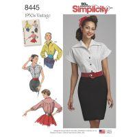 Tipar bluza vintage femei S 8445