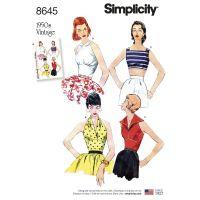 Tipar bluze vintage femei S 8645